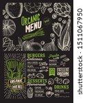 organic menu template for... | Shutterstock .eps vector #1511067950