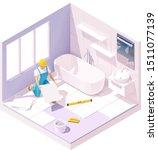 vector isometric tiler or...   Shutterstock .eps vector #1511077139