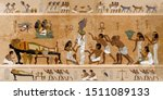 ancient egypt. mummification... | Shutterstock .eps vector #1511089133