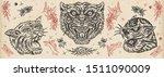 tigers. vintage old school... | Shutterstock .eps vector #1511090009