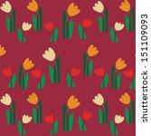 tulip pattern. vector art   Shutterstock .eps vector #151109093