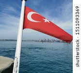 turkish flag is on the water at ... | Shutterstock . vector #1511093369