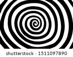 Spiral Hand Drawn Vector...