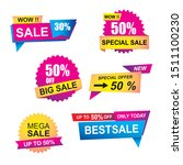 sale banner collections. price... | Shutterstock .eps vector #1511100230