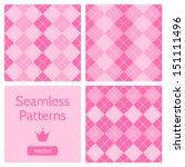 Set Of Cute Pink Girlish...