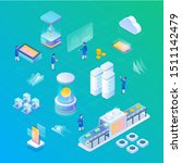 blockchain equipment objects... | Shutterstock .eps vector #1511142479