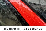 Raindrops On Red Car   After...