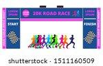 set of marathon start finish... | Shutterstock .eps vector #1511160509
