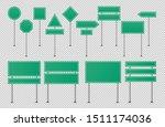 green traffic signs.  blank... | Shutterstock .eps vector #1511174036