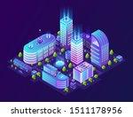 isometric smart city.... | Shutterstock .eps vector #1511178956