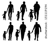 group silhouettes dads and... | Shutterstock .eps vector #151119194