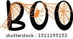 boo with spider decoration for...   Shutterstock .eps vector #1511195153
