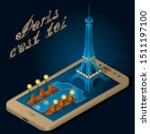 Illustration Of Eiffel Tower...