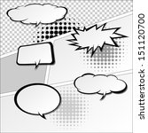 comic speech bubbles vector... | Shutterstock .eps vector #151120700