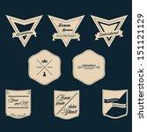 vintage label vector set | Shutterstock .eps vector #151121129