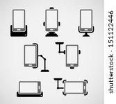 simple mobile phone holder... | Shutterstock .eps vector #151122446