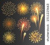 festive fireworks collection....   Shutterstock .eps vector #1511225663