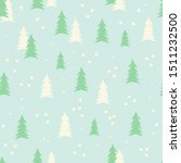cute winter background with... | Shutterstock .eps vector #1511232500