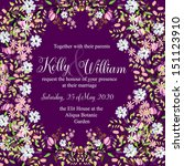 invitation or wedding card with ... | Shutterstock .eps vector #151123910
