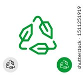 tech recycle symbol. line style ... | Shutterstock .eps vector #1511251919
