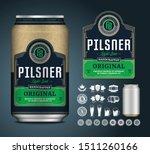 vector light beer label....   Shutterstock .eps vector #1511260166