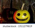 Funny Pumpkin Head And Its...