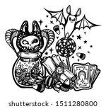 halloween vector composition... | Shutterstock .eps vector #1511280800