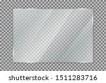 glass plate on transparent... | Shutterstock .eps vector #1511283716