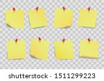 set yellow sticky papers on... | Shutterstock .eps vector #1511299223