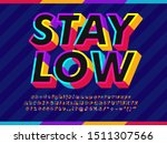 3d colorful outline text effect | Shutterstock .eps vector #1511307566