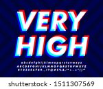3d modern glitch text effect | Shutterstock .eps vector #1511307569