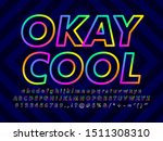 minimalist colorful font text...   Shutterstock .eps vector #1511308310
