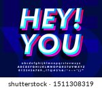 double layered font text effect | Shutterstock .eps vector #1511308319