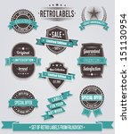 set of vintage retro labels ... | Shutterstock .eps vector #151130954