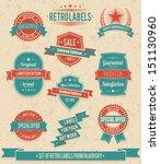 set of vintage retro labels ... | Shutterstock .eps vector #151130960
