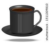 coffee cup ceramic black color...   Shutterstock .eps vector #1511309810