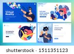 web design templates of virtual ... | Shutterstock .eps vector #1511351123