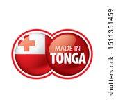 tonga flag  vector illustration ...   Shutterstock .eps vector #1511351459