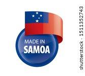 samoa flag  vector illustration ...   Shutterstock .eps vector #1511352743