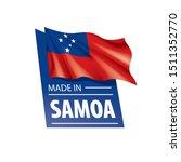 samoa flag  vector illustration ...   Shutterstock .eps vector #1511352770