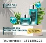 cosmetic blue skincare... | Shutterstock .eps vector #1511356226
