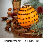 Christmas Orange Decorated Wit...