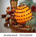 Christmas Orange Decorated Wit...