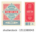vintage label with gin liquor... | Shutterstock .eps vector #1511380043