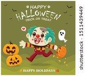 vintage halloween poster design ... | Shutterstock .eps vector #1511439449