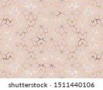 geometric gold glitter flowers... | Shutterstock .eps vector #1511440106