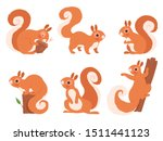 cute squirrel. zoo little... | Shutterstock .eps vector #1511441123