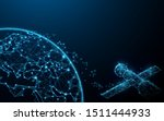 earth view from space and... | Shutterstock .eps vector #1511444933