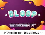 cute font for kids  glossy... | Shutterstock .eps vector #1511458289