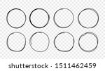 hand drawn circles sketch frame ... | Shutterstock .eps vector #1511462459